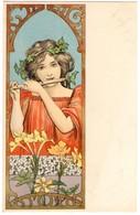 CPA - Illustrateur -  - Art Nouveau - Femme Qui Joue De La Flûte - Künstlerkarten