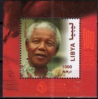 LIBYA, 2018,MNH, JOINT ISSUE, NELSON MANDELA, S/SHEET - Joint Issues