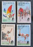 ILE MAURICE - MAURITIUS - 1985 - YT 627 à 630 - 2è JEUX SPORTIFS DES ILES DE L OCEAN INDIEN - Mauritius (1968-...)
