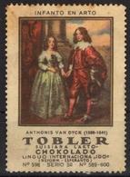 ESPERANTO - VAN DYCK Painting - Toblerone TOBLER Chocolate Chocolat Tobler Suisse Switzerland LABEL VIGNETTE Cinderella - Esperanto