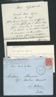Lot De 2 Lacs Envoi Du Lieut De Vaisseau Du Commandant D'escadrille 4 E1 ( Aéronavalle ) En Juillet 1931 Lx35 - Marcofilie (Brieven)