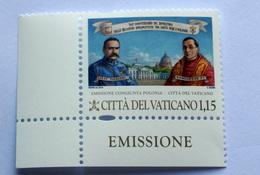 VATICAN 2019, 100TH ANNIVERSARY RELATIONSHIP WITH POLAND,  MNH** - Vaticano (Ciudad Del)