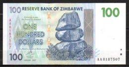 Zimbabwe Billet De 100 Dollars 2007 AA818 Neuf - Simbabwe