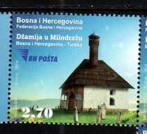BOSNIA, MUSLIM , 2018, MNH, JOINT ISSUE WITH TURKEY, ARCHITECTURE, HOUSES, 1v - Joint Issues