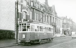 Tramways De Lille. Mairie De Saint-André. Cliché Jacques Bazin. 20-12-1958 - Tramways