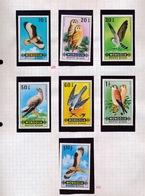 197?  MONGOLIA   BIRDS      7 STAMPS NEW NEUF - Eagles & Birds Of Prey