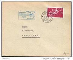 """Schweiz Suisse 1948: Zu 283 Mi 498 Yv 455 """"Erste Schweiz. HELICOPTER-POST 23.Sept.1948"""" Mit O ZÜRICH 23.IX.48 - Briefe U. Dokumente"""