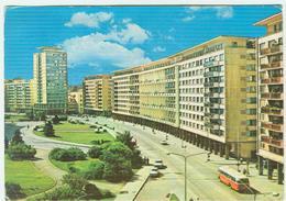 BUCURESTI - PIATA PALATULUI -COLORI,ANIMATA,BUS-AUTO,1970,POSTE BUREAU D'ECHANGE BUCAREST-GARE DU NORD-RR - Romania