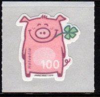 SWITZERLAND, 2019, MNH, PIG, GOOD LUCK,1v - Stamps
