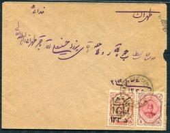1918 Persia Hamadan - Teheran Cover. Ahmad Shah Overprint - Iran