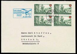 """Schweiz Suisse 1948: Zu Pro Patria 38 Mi 508 Yv 457 """"Erste Schweiz. HELICOPTER-POST 23.Sept.1948"""" Mit O ZÜRICH 23.IX.48 - Briefe U. Dokumente"""