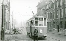 Tramways De Lille. Dépôt Du Lion D'Or. Cliché Jacques Bazin. 14-02-1959 - Tramways