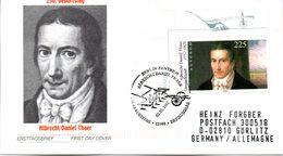"""BRD Schmuck-FDC: """"250. Geburtstag Von Albrecht Daniel Thaer"""", Mi.2255 ESSt 2.5.2002 BERLIN ZENTRUM - [7] République Fédérale"""