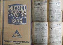 J) 1929 GERMANY, CATALOGUE, MICHEL BRIEFMARKEN, OVERSEAS, PUBLISHING SCHWANEBERGER ALBUM, BLACK ADN WHITE, GERMAN VERSIO - Germany