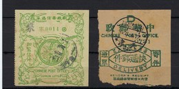 CHINA - 2 Sender's Receipts - One From TIENTSIN 1924 - Chine
