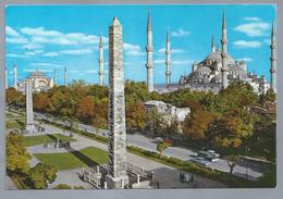 TR.- ISTANBUL TURKIYE. Hipodrom Ve Sultanahmet Camii. Hipodromus And Bleu Mosque. - Turkije