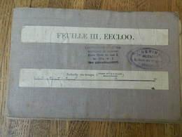 EECKLOO +TERNEUZEN :TRES RARE CARTE MILITAIRE DE1912 DE EECKLOO ET ENVIRONS - Documentos