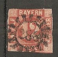 BAV -  Yv.,n° 7 Mi. N° 6   (o)   12k  Rouge   Cote 170  Euro  D  2 Scans - Bayern