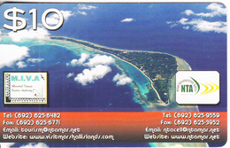 MARSHALL ISLANDS - Aerial View, NTA Prepaid Card $10, Exp.date 23/06/18, Used - Marshall