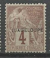 GUADELOUPE N° 16 Variétée Sans Le G NEUF*  CHARNIERE TB / MH - Unused Stamps