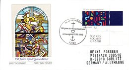 "BRD Schmuck-FDC: ""150 Jahre Kindergottesdienste"", Mi.2256 ESSt 2.5.2002 BERLIN ZENTRUM - [7] République Fédérale"