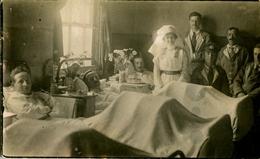 80. SOMME - CAYEUX. Hôpital Temporaire Brighton N° 70. Salle De Blessés. [2 Scans] - Cayeux Sur Mer