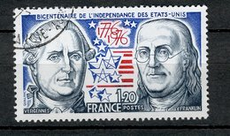 France 1976 - Oblitéré Used - Y&T N° 1879 - Bicentenaire De L'Indépendance Des Etats-Unis - Vergennes Franklin - France