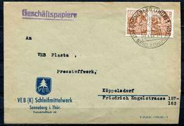 """DDR 1954 Firmen Bedarfsbrief /Cover Mit Mi.Nr.365 Und Sonderstempel""""Sonneberg-mit Spielzeugmuseum,Holzpferd""""1 Beleg Used - [6] República Democrática"""