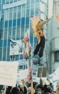 Tehran Iran, Effigy Of US President Jimmy Carter Burned, Iranian Revolution, C1980s Vintage Postcard - Events