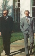 Shah Of Iran Mohammed Reza Pahlavi With US President Jimmy Carter, C1980s Vintage Postcard - People