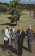 Chancellor Schmidt Presidents Carter & Giscard D'Estaing, Prime Minister Callaghan January 1979, C1980s Vintage Postcard - People