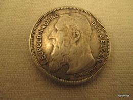 2 Franc Argent  Leopold II   1909 - 1865-1909: Leopold II