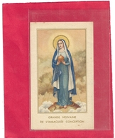 GRANDE NEUVAINE DE L'IMMACULEE CONCEPTION - 30 NOV-9 DEC 1950 . 2 SCANES - Images Religieuses