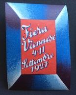 VIENNA FIERA INTERNAZIONALE VIENNESE 4-11 Settembre 1927    ETICHETTA PUBBLICITARIA   ERINNOFILO - Cinderellas