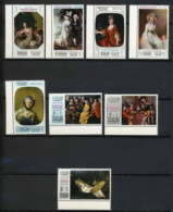 483a - Sharjah MNH ** N° 426 / 433 A Tableau (tableaux Painting) Mother's Day Gainsborough - Courbet - Le Nain - David - Sharjah