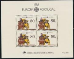 Portugal, 1988, 1754 Block 57,  Europa: Transport- Und Kommunikationsmittel. MNH ** - Blocks & Sheetlets