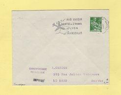 Convoyeur Le Croisic A Nantes - Flamme Avion Nantes Lyon Marseille - 1962 - Marcophilie (Lettres)