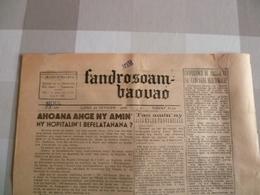 Journal De Madagascar 1958 : Fandrosoam Baouao - Livres, BD, Revues