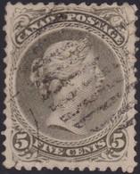 Canada        .     SG    .   63a  Perf.  12  ( 2 Scans )        .     O    .   Cancelled   .   /    .     Gebruikt - 1851-1902 Regering Van Victoria