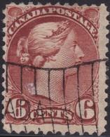 Canada        .     SG    .   86       .     O    .   Cancelled   .   /    .     Gebruikt - 1851-1902 Regering Van Victoria