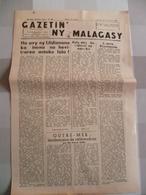 Journal De Madagascar 1958 : Gazetin'ny Malagasy - Livres, BD, Revues