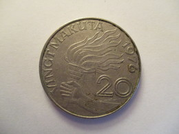 Congo: 20 K (makuta) 1967 - Congo (República Democrática 1964-70)