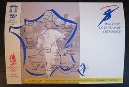 France - Souvenir Carte Postale - Parcours Flamme Olympique (sans Timbre) - France