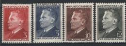 Jugoslavia 1950 Unif. 544/47 **/MNH VF - Nuovi