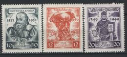 Jugoslavia 1951 Unif. 582/84 **/MNH VF - 1945-1992 Repubblica Socialista Federale Di Jugoslavia