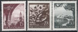 Jugoslavia 1952 Unif. 617/19 **/MNH VF - Nuovi