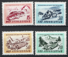 Jugoslavia 1953 Unif. 630/33 **/MNH VF - 1945-1992 Repubblica Socialista Federale Di Jugoslavia