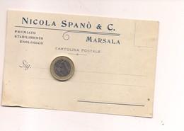 TP152 Sicilia MARSALA TRAPANI 1918 VIAGGIATA IN BUSTA PUBBLICITARIA ENOLOGICO SPANO' - Marsala