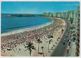 BRASIL  TURISTICO   RIO  DE  JANEIRO   PRAIA  E  FORTE DE  COPACABANA            (VIAGGIATA) - Rio De Janeiro