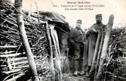 80. SOMME - OVILLERS. Tranchée De 1re Ligne Devant Le Village Pendant La Guerre De 1914-1918. - Autres Communes